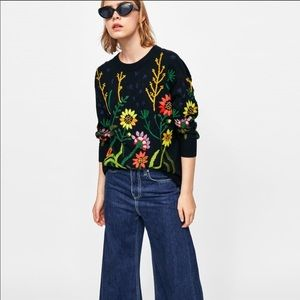 NEW Zara collection embroidered sweater
